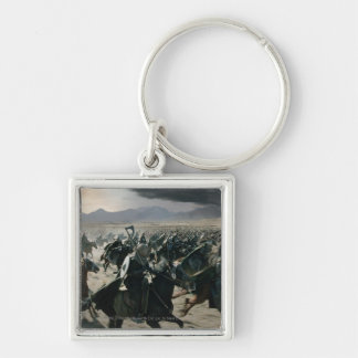 Army of Rohan Silver-Colored Square Keychain