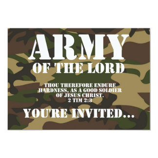 """Army of the Lord 5"""" X 7"""" Invitation Card"""