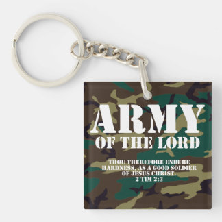 Army of the Lord, Bible Scripture Camo Keychain