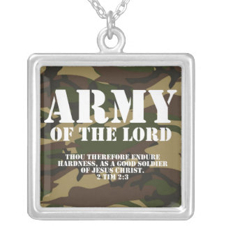 Army of the Lord Silver Plated Necklace