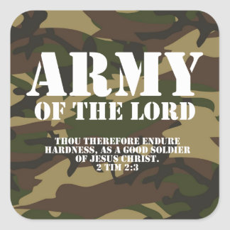 Army of the Lord Square Sticker