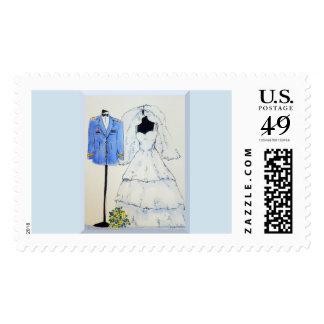Army Officer Wedding Stamp