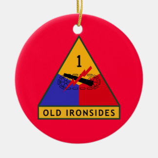 Army Old Ironsides Ceramic Ornament