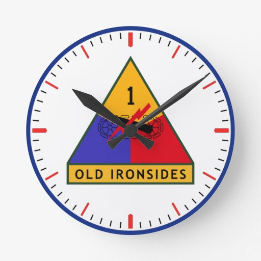 Army Old Ironsides Round Wall Clock