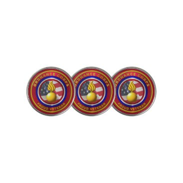 Army Ordnance Corps Veteran Golf Ball Marker