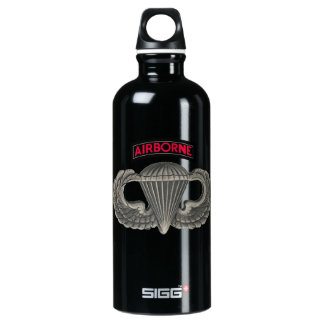Army Parachutist Aluminum Water Bottle