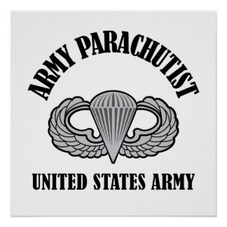 Army Parachutist Badge Poster