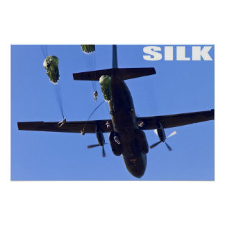 Army Paratroops Poster