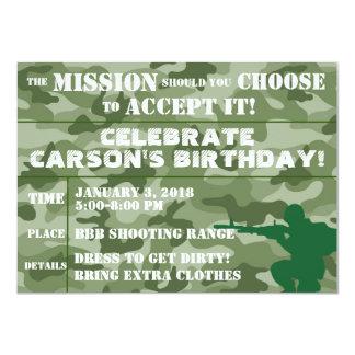 ARMY PARTY INVITATION, PAINTBALL PARTY INVITATION
