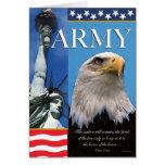 Army Patriotic Troop Support Card Card