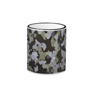 Army Pattern In Camo Greens Ringer Coffee Mug