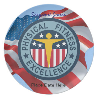 Army Physical Fitness Dinner Plates