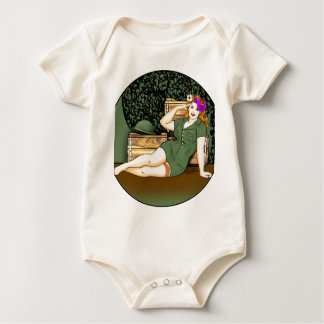 Army Pin-Up Baby Bodysuit