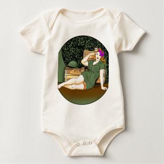 Army Pin-Up Baby Creeper