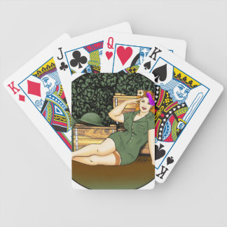 Army Pin-Up Bicycle Playing Cards