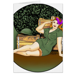 Army Pin-Up Card
