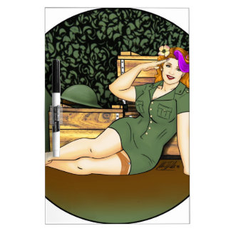 Army Pin-Up Dry Erase Board