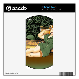 Army Pin-Up iPhone 4S Decals
