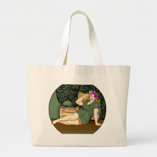 Army Pin-Up Large Tote Bag