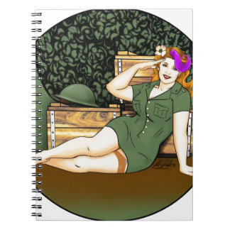 Army Pin-Up Notebook