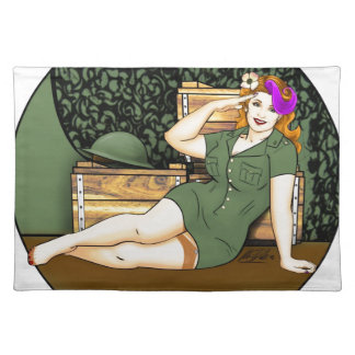 Army Pin-Up Placemat