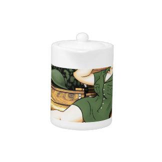 Army Pin-Up Teapot