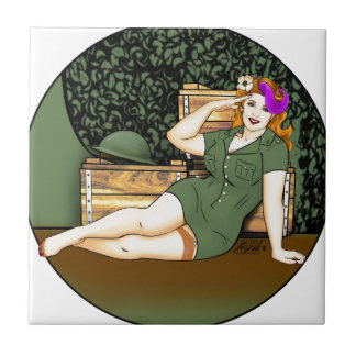 Army Pin-Up Tile