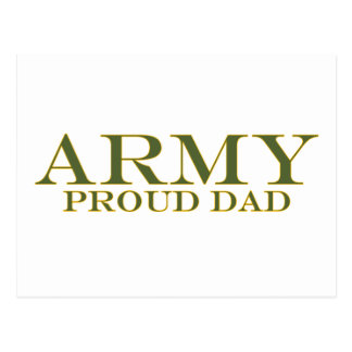 Army Proud Dad Postcard
