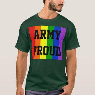 Army Proud Gay Rainbow Dark T-Shirt