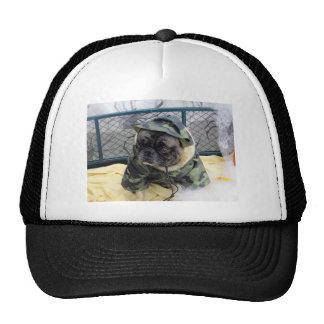 Army Pug Mesh Hat
