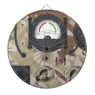 Army Radio desert camouflage. Dartboard With Darts