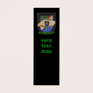 Army ranger 75th flash veteran patch bookmarkers mini business card