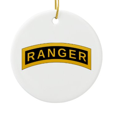 Army RANGER Military Symbol - back PERSONALIZED Ceramic Ornament