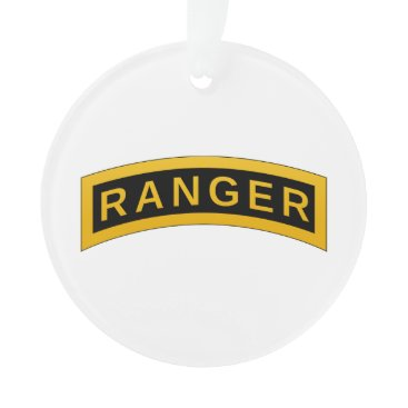 Army RANGER Military Symbol - back PERSONALIZED Ornament