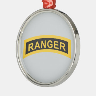 Army Ranger Tab Metal Ornament