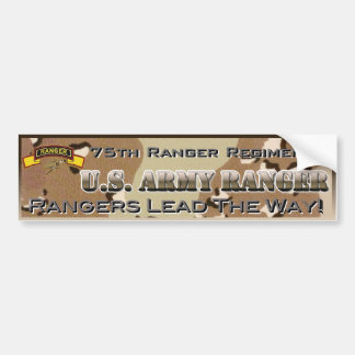 Army Rangers BUMPER STICKER Car Bumper Sticker