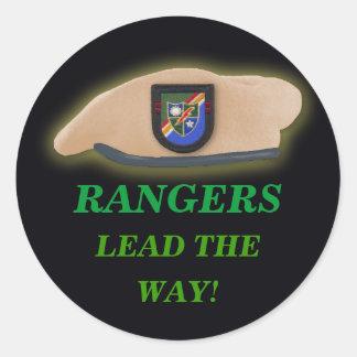 army rangers son vets scrapbooking iraq beret GI Classic Round Sticker