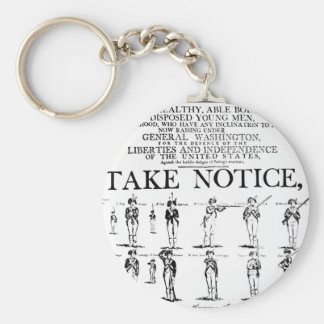 Army recruiting notice used during the period of t keychain