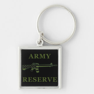 Army Reserve M16 Keychain Black Subdued