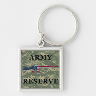 Army Reserve M16 Keychain Green
