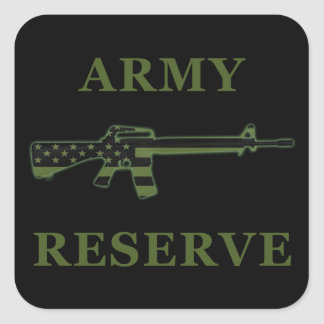 Army Reserve M16 Sticker Black Subdued