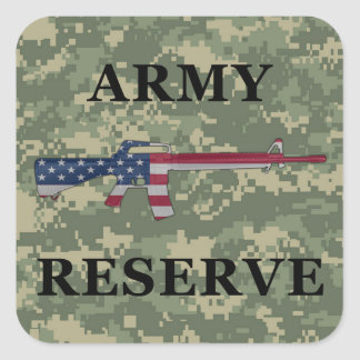 Army Reserve M16 Sticker Green