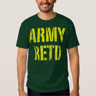 Army retd t shirt