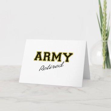 ARMY RETIRED CARD