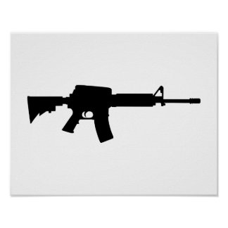 Army rifle poster