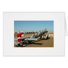 Army Santa Card at Zazzle