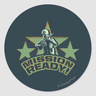 Army Sarge: Mission Ready Classic Round Sticker