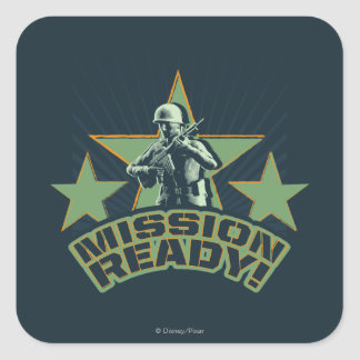 Army Sarge: Mission Ready Square Sticker