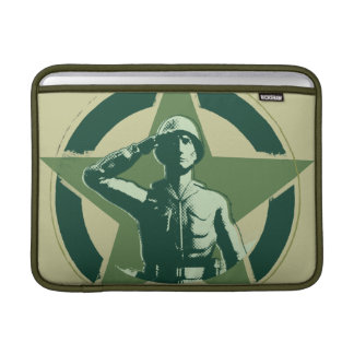 Army Sarge Salutes MacBook Sleeve