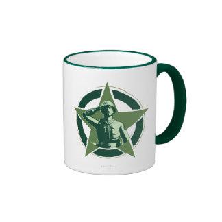 Army Sarge Salutes Ringer Coffee Mug